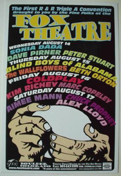 14th August 2002 - Fox Theatre