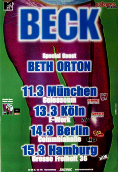 March 2000 - Beck tour